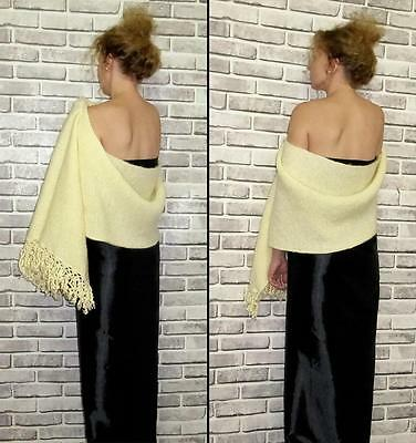 Gorgeous Uzbek Handmade & Homemade Natural Woolen Shawl Long Scarf A8877