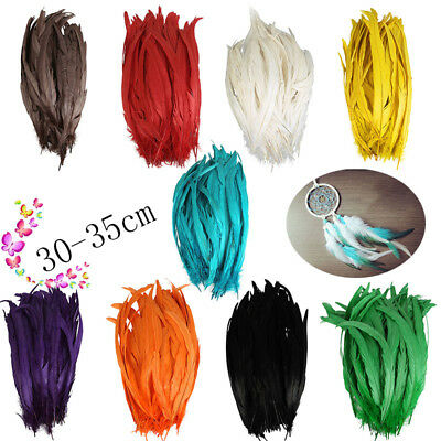 30/50/100pcs rooster tail feathers 12-14inches /Millinery/Cloth/Wedding/Crafts