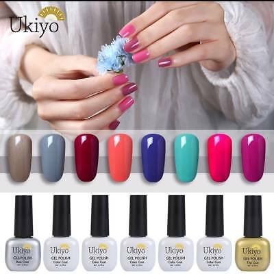 Ukiyo  Soak Off UV Gel Polish No Wipe Top Base Coat Nail Varnish Manicure
