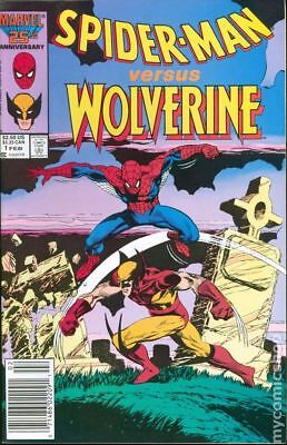 Spider-Man vs. Wolverine (Marvel) 1st Edition #1 1987 FN Stock Image