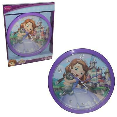 Official Licensed Disney Children's Bedroom 24cm Wall Clock - Sofia the First