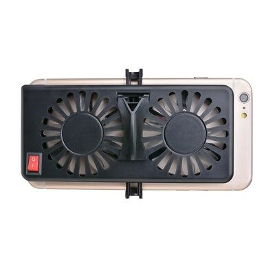 2 in 1 Portable Cell Phone Cooler Dual Cooling Fan Radiator / Stand Holder AC543