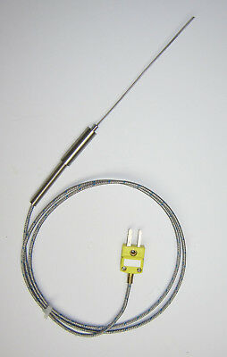 Ultra Thin Stainless Steel K-type Thermocouple Flexible Sensor 1mm SSP-1-100