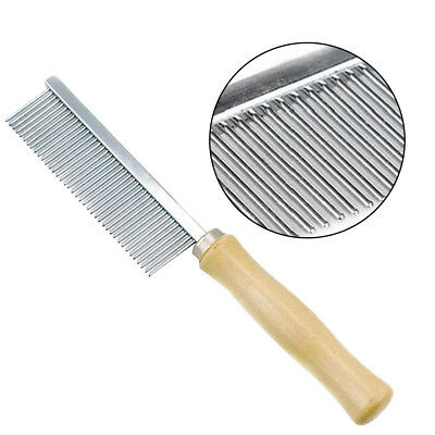 Pet Puppy Dog Cat Stainless Steel Comb Hair Brush Shedding Flea Grooming Tool US