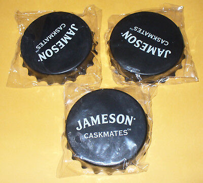 3 Jameson Caskmates Irish Whiskey Bottle Openers Twist Off/Pop Top-Magnetic, Lot