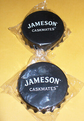 2 Jameson Caskmates Irish Whiskey Bottle Openers Twist Off/Pop Top-Magnetic, Lot