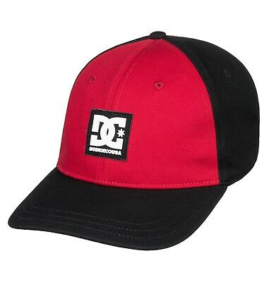 Dc Shoes Mens Baseball Cap.new Spinner Black Red Cotton Snapback Hat 8W 636 Kvjo