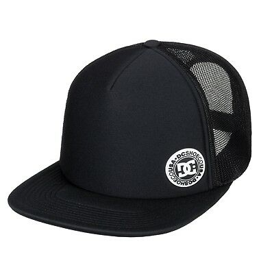 Dc Shoes Mens Baseball Cap.balderson Black Flat Peak Mesh Trucker Hat 8W 28 Kvjo