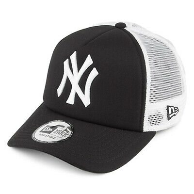 New Era Men Baseball Cap.mlb New York Yankees Clean A Frame Mesh Trucker Hat 934