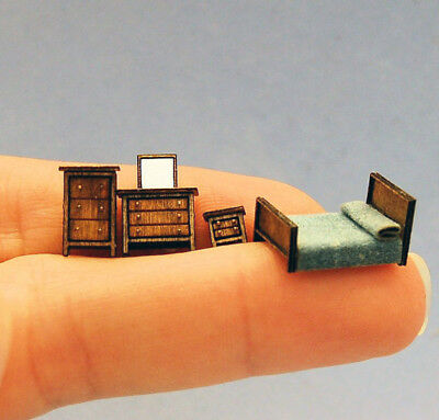 1/144th Scale Chelsea Bedroom kit by Susan Karatjas sdk miniatures LLC