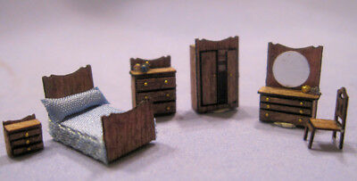 1/144th Scale Classic Bedroom Set kit by Susan Karatjas sdk miniatures LLC