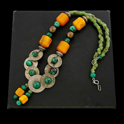 Antique Vintage Art Deco Retro Ethnic Tribal British West Africa Bead Necklace