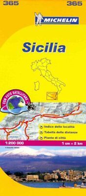 Sicily - Michelin Local Map 365 Map 9782067126749 (Sheet map, 2007)