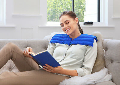 My Heating Pad-  Upper Body Wrap  - Natural and Reusable Soothing Relief (Blue)