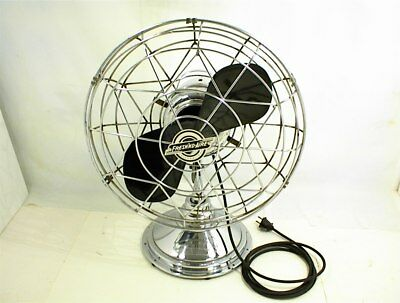 Vintage FRESHND-AIRE ELECTRIC FAN MODEL 14 BAKELITE BLADE 3 SPEED WORKS A-1216