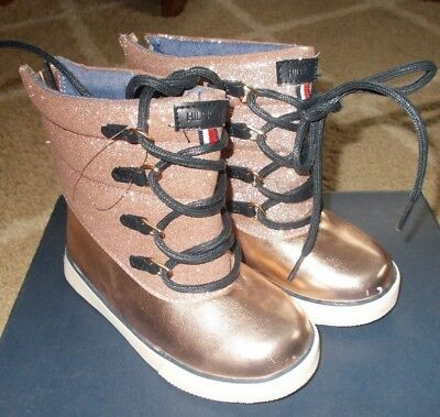 546e4bd21 NEW TOMMY HILFIGER girl s Boots Size 7 Toddler Regan-T Winter Snow Rose Gold