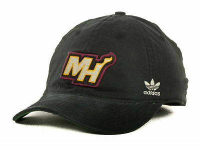 ae574f00251 Miami Heat Adidas Black Nba Chase Stretch Slouch Flex Fit Hat Cap Size L xl