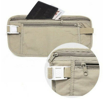 Protable Travel Pouch Hidden Compact Security Money Passport ID Waist Holder Bag