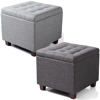 Strange Ottoman Storage Box Foot Stool Seat Single Folding Linen Gmtry Best Dining Table And Chair Ideas Images Gmtryco