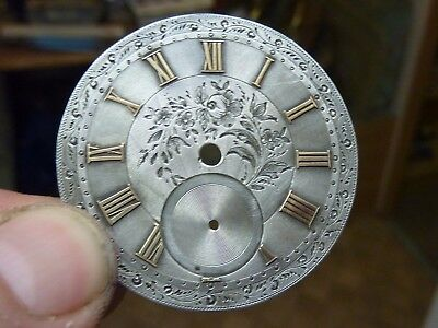 Very Nice Engraved Pocketwatch Dial With Raised Numerals (C)