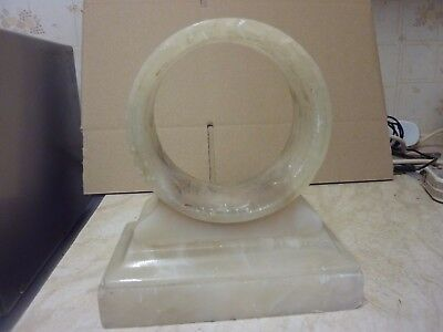 Small Old Onyx - Marble Drum Type Clock Case
