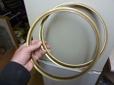 2 New Old Stock Brass Barometer Bezels (Km)