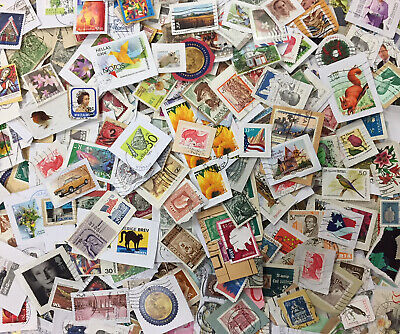 World Used Postage Stamp Mix on Paper NO GB - 600g - GENUINE CHARITY DIRECT