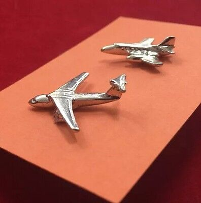 Lot of 2 Vintage 1960's AVIATION US Military Aircraft Jet Advertising Lapel Pins