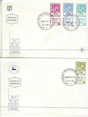 Israel - Agricultural Products (2no. PO FDC's) 1982/83
