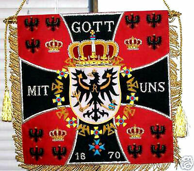German Prussian Eagle Army War Battle Cavalry Kingdom Hussar Royal Banner Flag