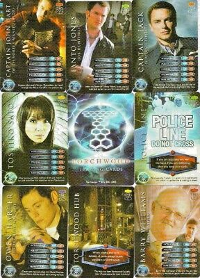 Bundle Lot of 120+ Torchwood Trading Cards 2006 Inc Rare Cards - Like Doctor Who