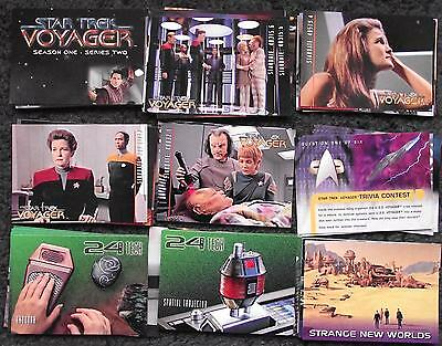Bundle Lot - 90 Star Trek Voyager Season One Series Two - Base Set Trading Cards