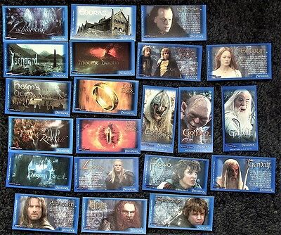 Bundle 20+ Lord of The Rings Trading Cards - Bassetts & Beyond Candy Sticks 2003