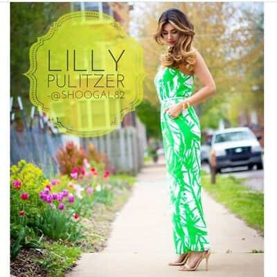 4d915277e7b5 LILLY PULITZER TARGET Green White JUMPSUIT Romper XXL 2XL Green Palm Boom  Boom
