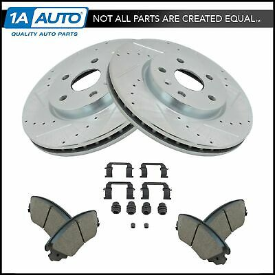Nakamoto Performance Drilled Slotted Brake Rotor Ceramic Pad Front Set for GM