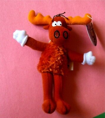 "Bullwinkle from Rocky And Bullwinkle - 6"" Plush Zipper Pull Key Chain with Tag"