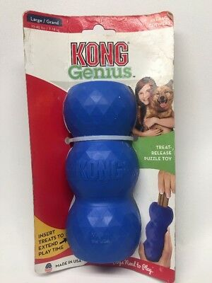 KONG Genius Mike Dog Toy LARGE Blue Treat Release Puzzle Fun Play NEW
