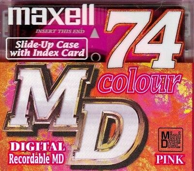 Maxell Pink Md 74 Recordable Blank Minidisc - Sealed