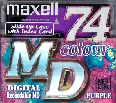 Maxell Purple Md 74 Recordable Blank Minidisc - Sealed