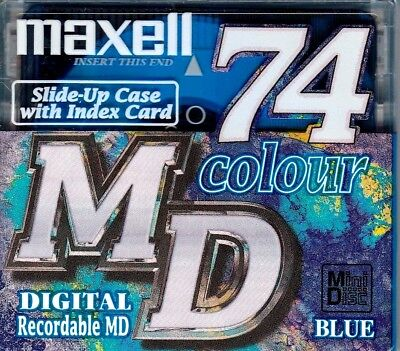 Maxell Blue Md 74 Recordable Blank Minidisc - Sealed