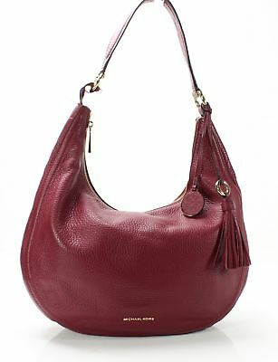 bc9b65f530 Michael Kors Mulberry Red Lydia Large Tassel Charm Hobo Shoulder Bag  298-   071