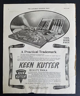 1907 antique Keen Kutter quality tools Cutlery Simmons Hardware Co ad