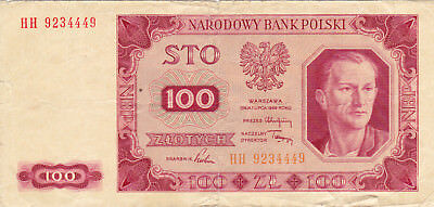 100 Zlotych Vg Banknote From Poland 1948!pick-139