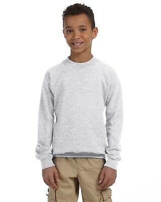 Gildan Sweatshirt Youth 7.75 oz Heavy Blend 50/50 Crew 18000B Size/Color Choice