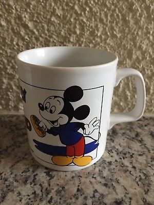 Vintage Walt Disney Productions Mickey Mouse and Pluto Mug Kaffeepott Becher