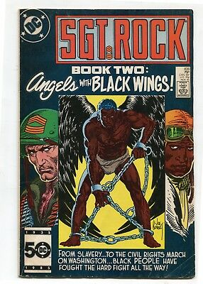 Sgt Rock No 406 DC Comic Bronze Age 75c Glossy Cover Angels with Black Wings Two