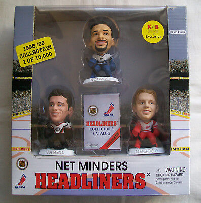 Headliners (NHL) NET MINDERS 3 Player Pack HASEK, KOLZIG, OSGOOD - KB Exclusive