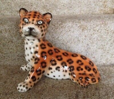 Hispania / Lladro Leopard Jaguar Cub Cat Kitten Figurine Approx Real Life Size