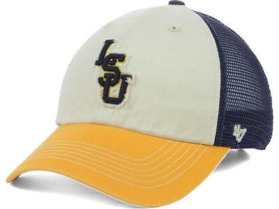 buy popular 273f0 0e565 Lsu Tigers 47 Brand Ncaa Navy Tan And Gold Mesh Back Snapback Hat Cap