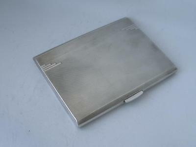 Stylish Heavy Solid Sterling Silver Cigarette Case 1964/ L 11.1 cm/ 184 g